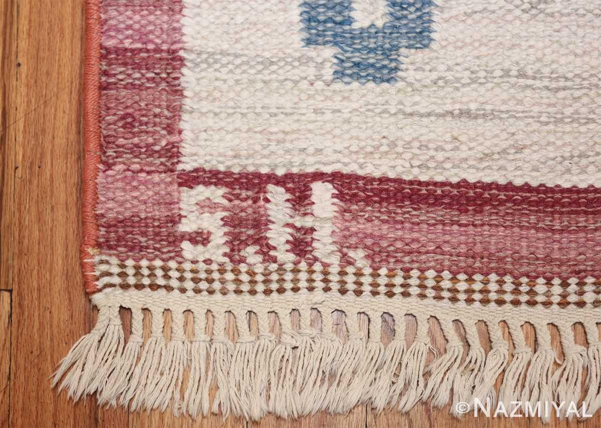 vintage swedish kilim by svensk hemslojd 48049 initials Nazmiyal