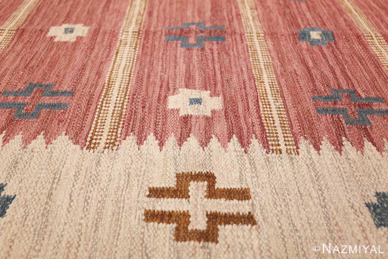 vintage swedish kilim by svensk hemslojd 48049 lines Nazmiyal