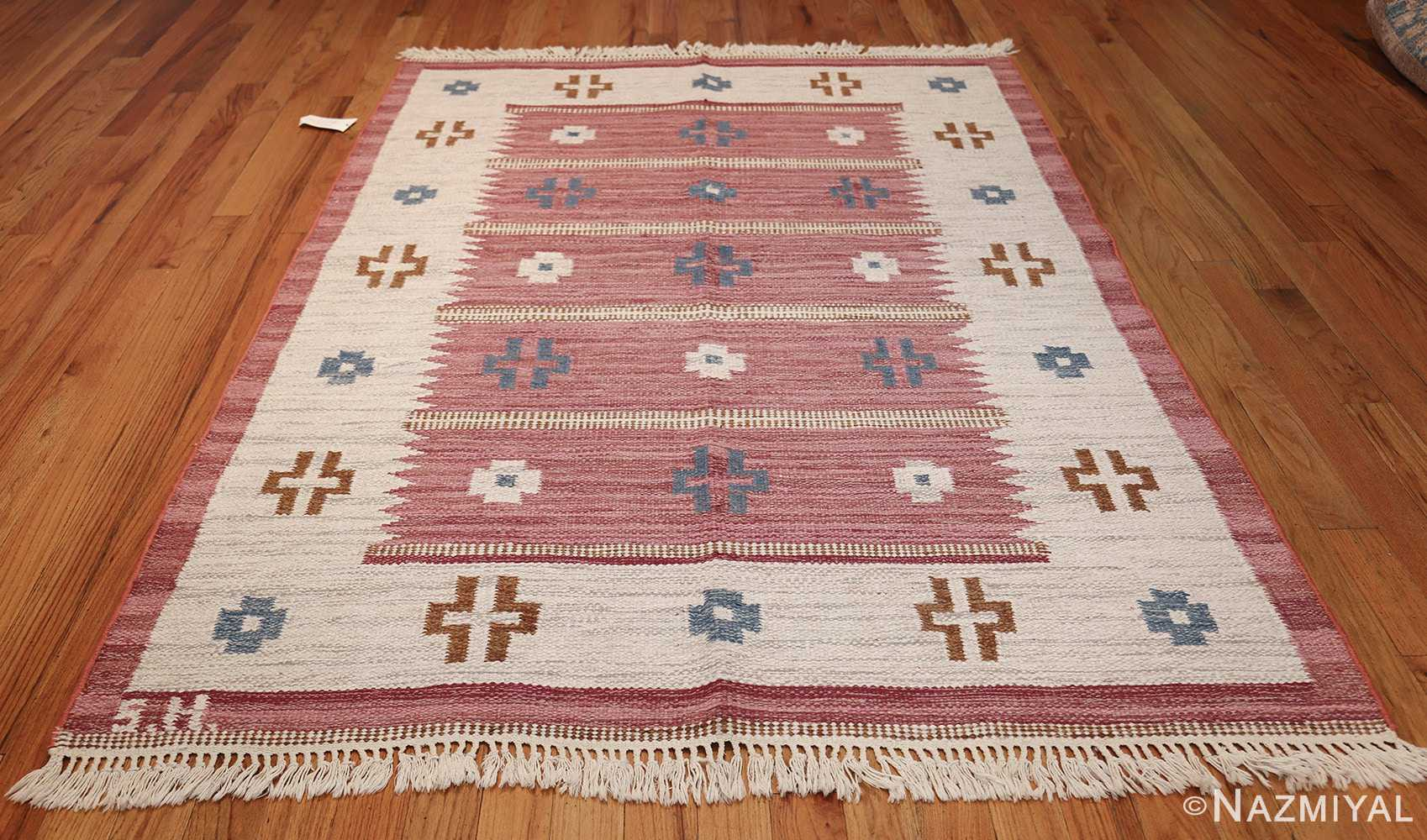 Vintage Swedish Kilim by Svensk Hemslojd 48049 Whole Nazmiyal