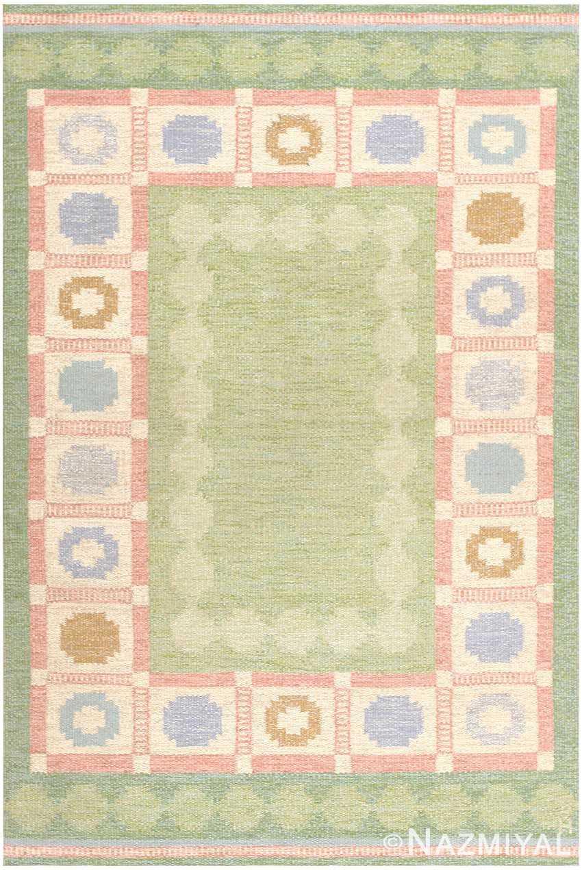 Vintage Swedish Kilim Rug by Anna Johanna Angstrom 48048 Nazmiyal