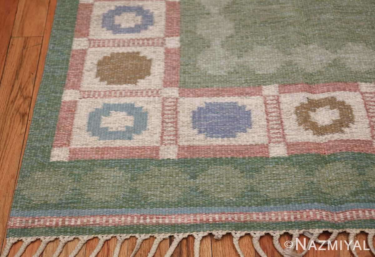 Vintage Swedish Rug by Anna Johanna Angstrom 48048 Pile Green Nazmiyal