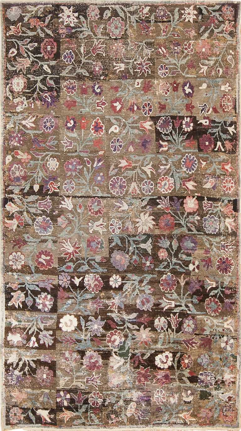 antique ambiguous floral rug by nazmiyal 48088 Nazmiyal