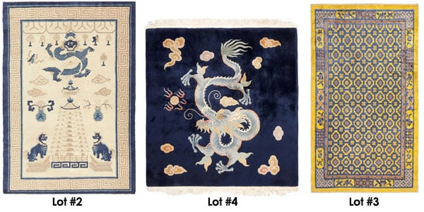 A Selection of Chinese Rugs from Nazmiyal's Nov. 6th Auction