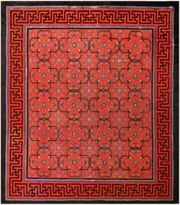 Early 18th Century Antique Chinese Geometric Rug 48032 Detail/Large View