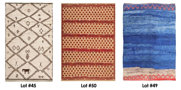 A Selection of Moroccan Rugs from Nazmiyal's November 6th Auction