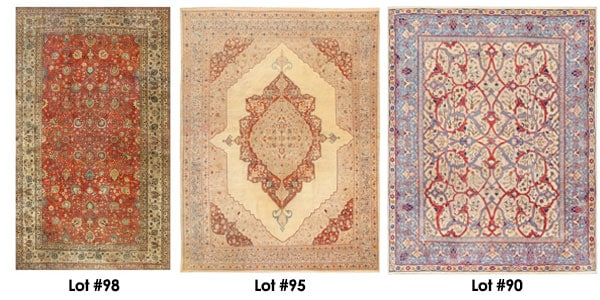 A Selection of Persian Carpets in our Nov. 6th Rug Auction