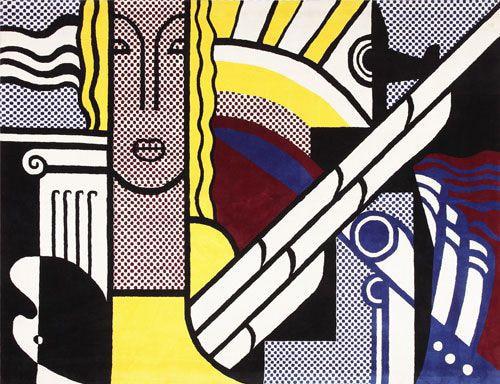 Pop Art Rugs by Roy Lichtenstein by Nazmiyal