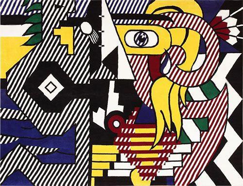 Roy Lichtenstein Pop Art Rugs by Nazmiyal