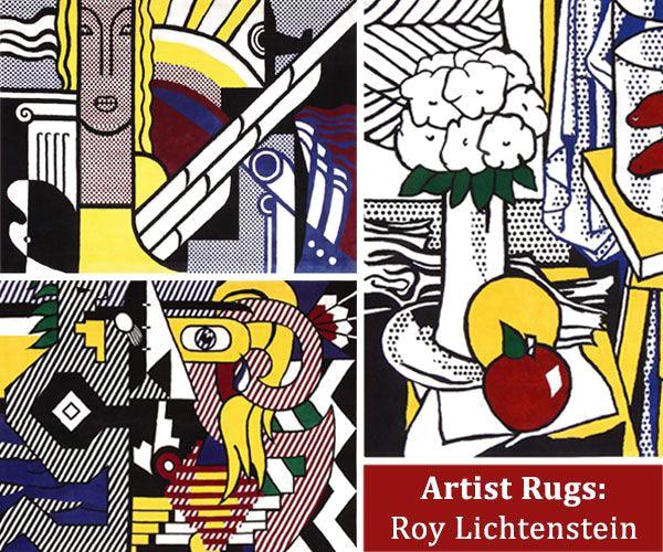 Roy Lichtenstein Rugs Pop Art by Nazmiyal