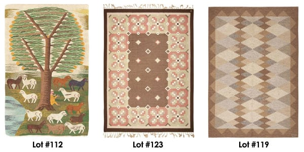 A Selection of Swedish Rugs from our Nov. 6th Auction