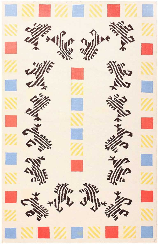 Vintage Scandinavian Kilim 48115 Detail/Large View