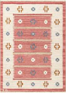 Vintage Swedish Kilim by Svensk Hemslojd 48049 Detail/Large View