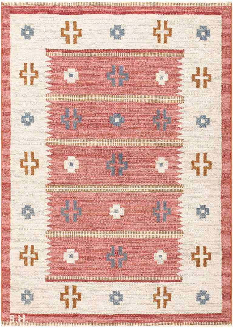 Vintage Swedish Kilim by Svensk Hemslojd 48049 Detail/Large View