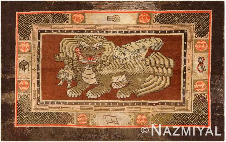 17th Century Chinese Fu Dog Rug 48031