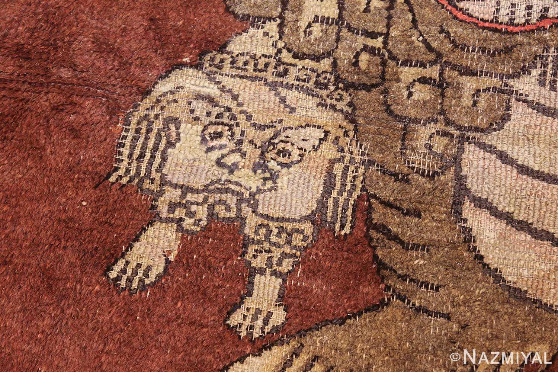 antique 17th century chinese fu dogs rug 48031 baby Nazmiyal