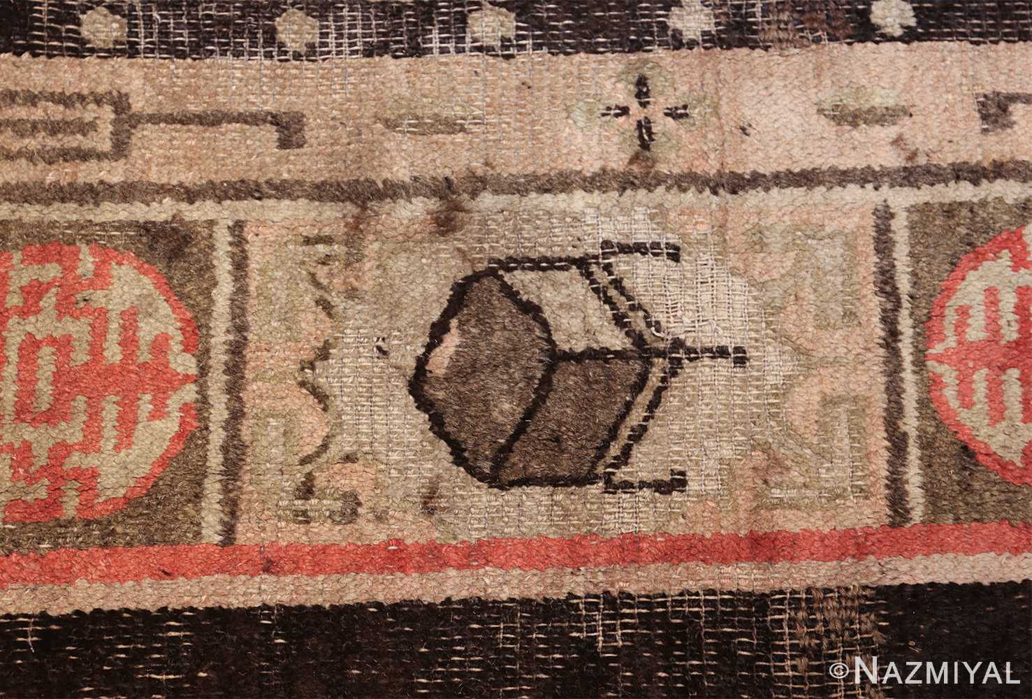 antique 17th century chinese fu dogs rug 48031 chair Nazmiyal