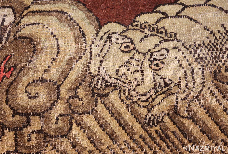 antique 17th century chinese fu dogs rug 48031 cub Nazmiyal