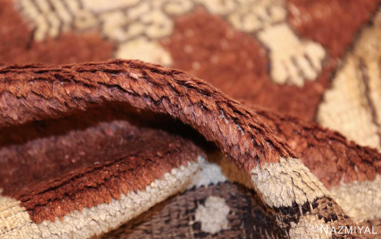 antique 17th century chinese fu dogs rug 48031 pile Nazmiyal