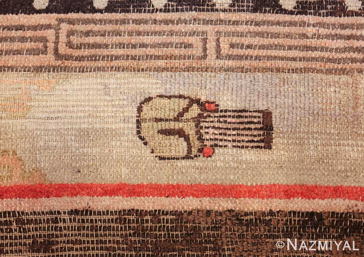 antique 17th century chinese fu dogs rug 48031 symbol Nazmiyal