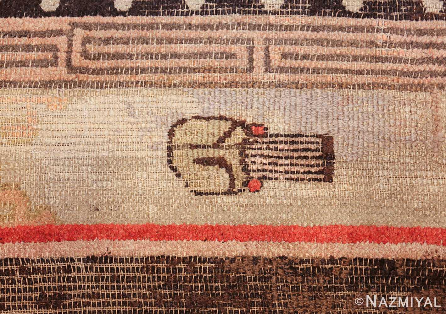antique 17th century chinese fu dogs rug 48031 symbol Nazmiyal