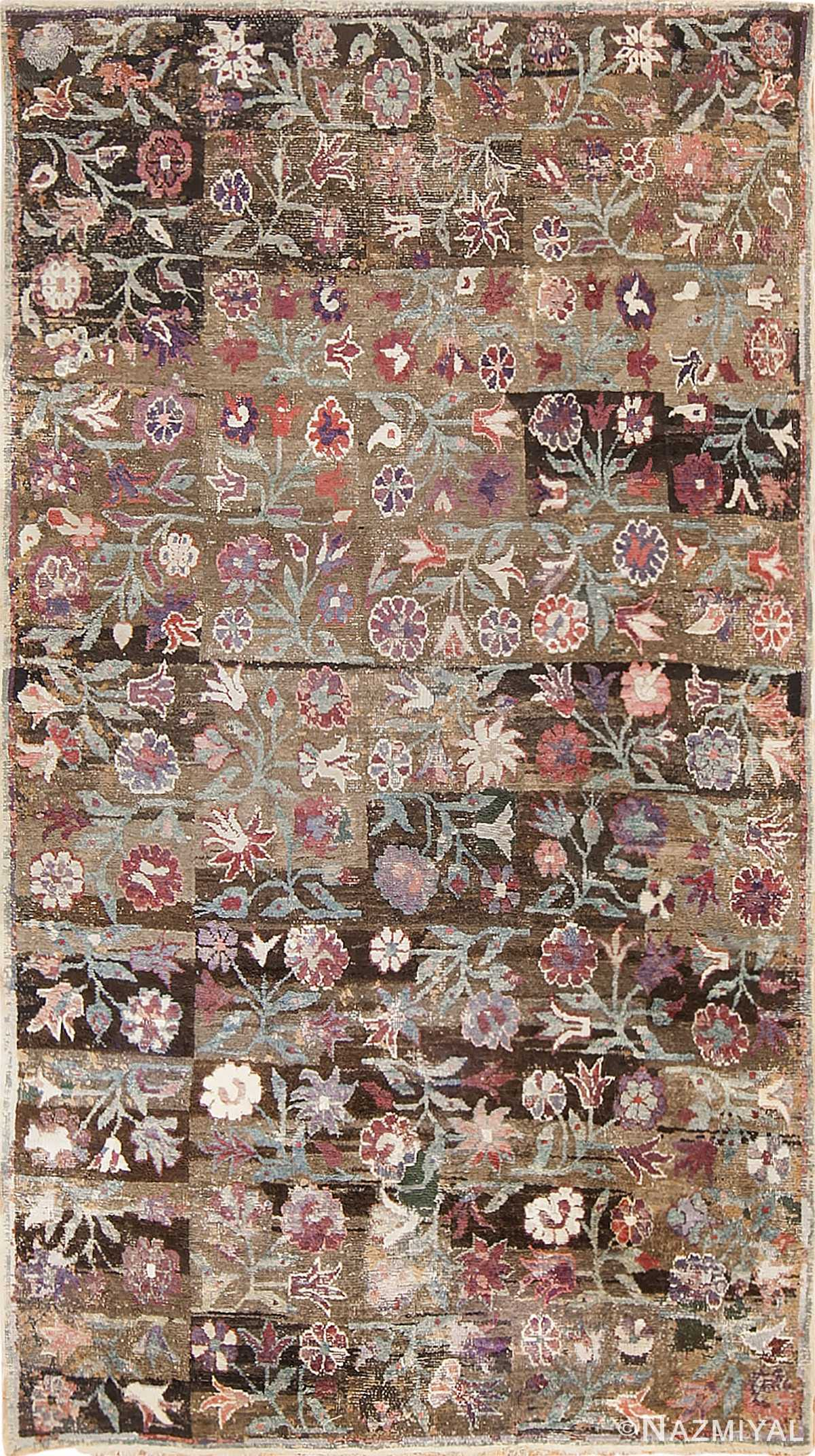 antique ambiguous floral rug by nazmiyal 48088 Nazmiyal