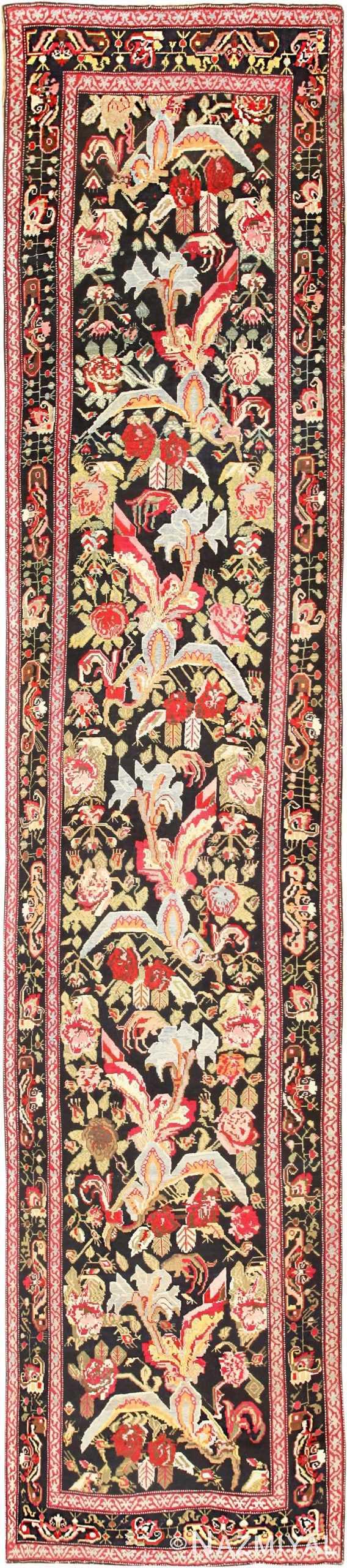 Antique Caucasian Karabagh Runner Rug 48149 Detail/Large View