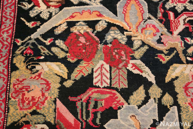 Antique Caucasian Karabagh Runner Rug 48149 Double Roses Nazmiyal
