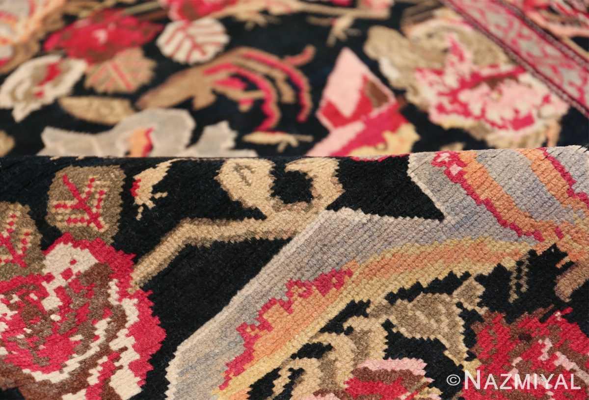 Antique Caucasian Karabagh Runner Rug 48149 Floral Pile Nazmiyal