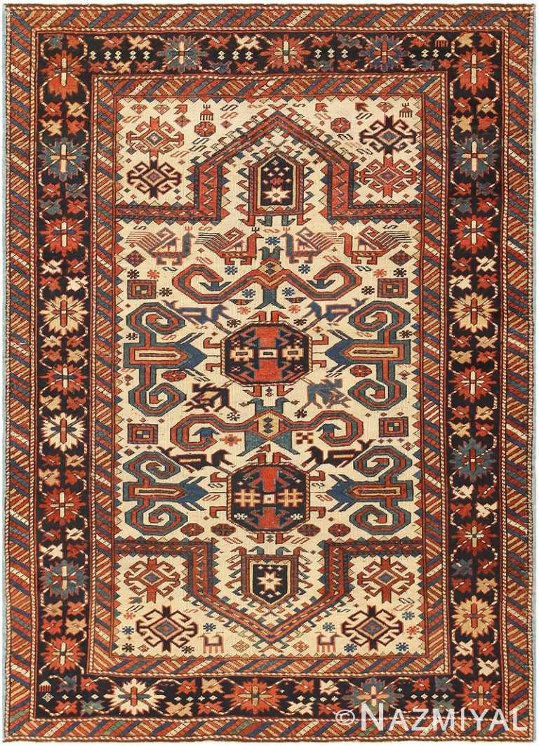 Antique Caucasian Perpedil Carpet 48099 Nazmiyal