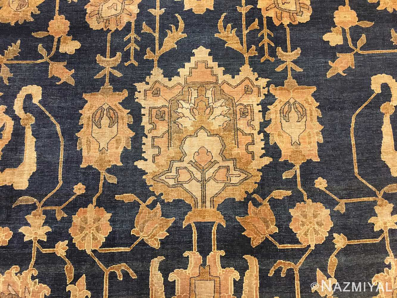 Field Of Antique Indian Agra Rug 46781 by Nazmiyal