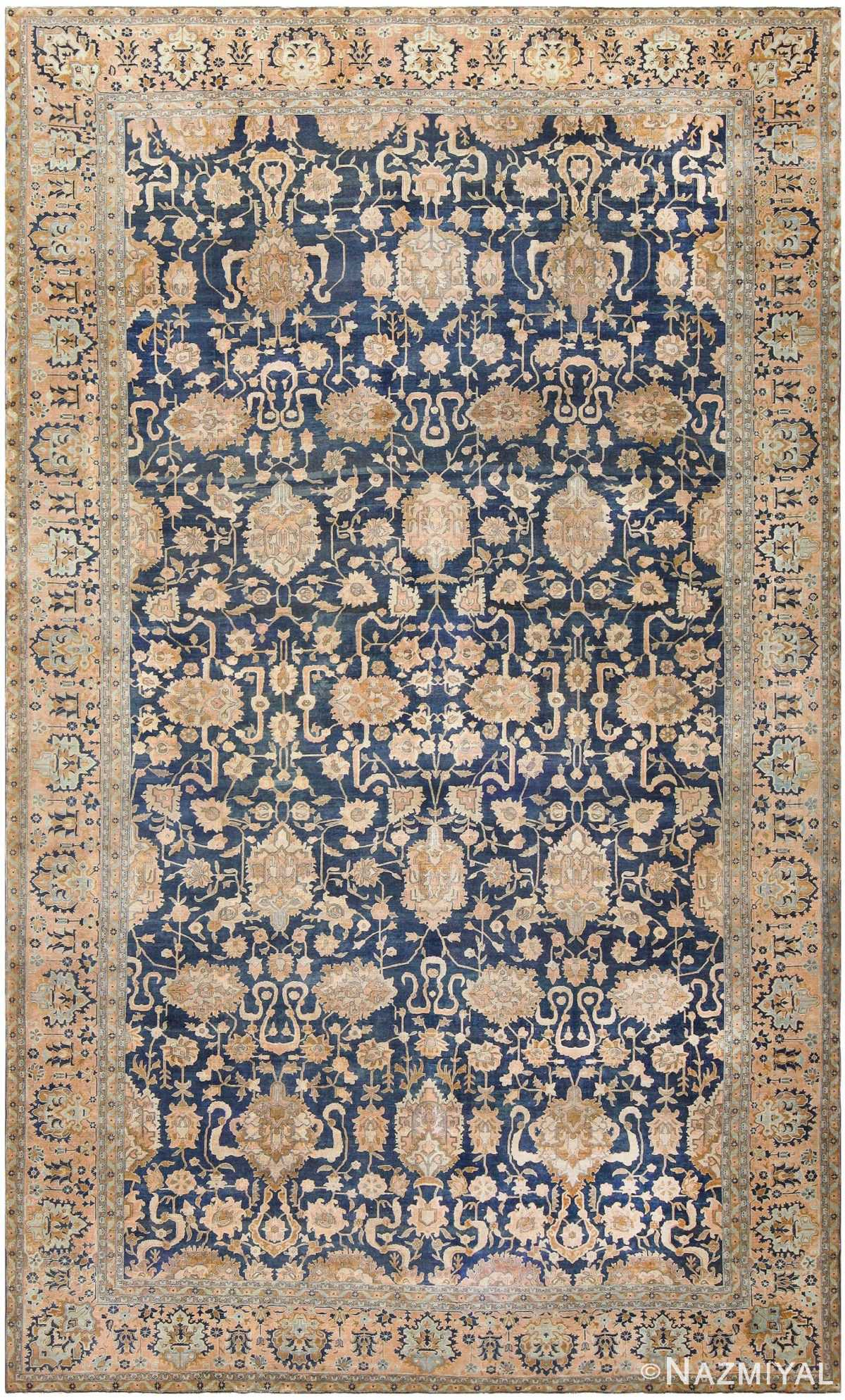 Antique Indian Floral Rug 46781 Detail/Large View