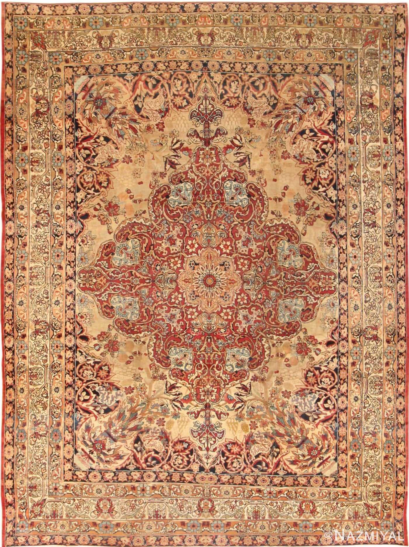 Antique Kerman Persian Rug 40523 Detail/Large View