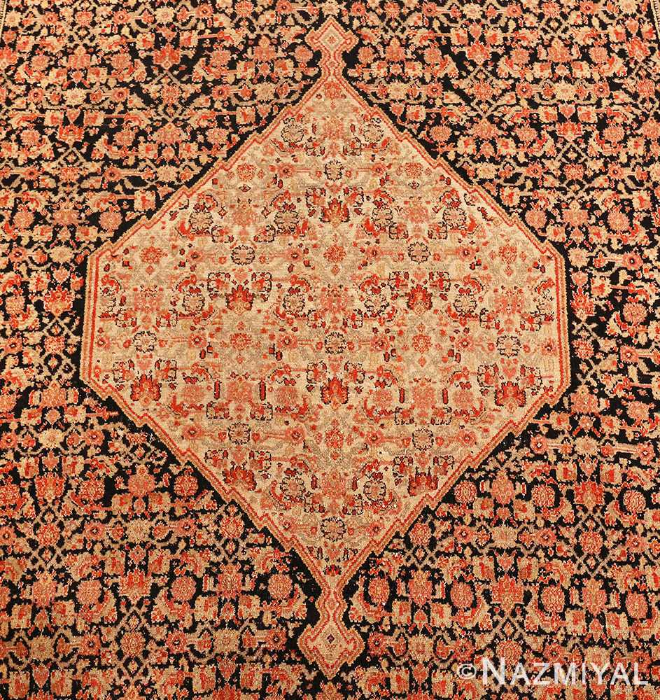 Picture of the Design Details of Antique Persian Senneh Runner Rug 48089