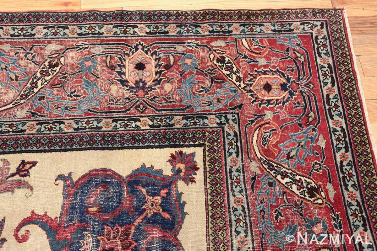 antique shabby chic persian khorassan rug 48035 corner Nazmiyal