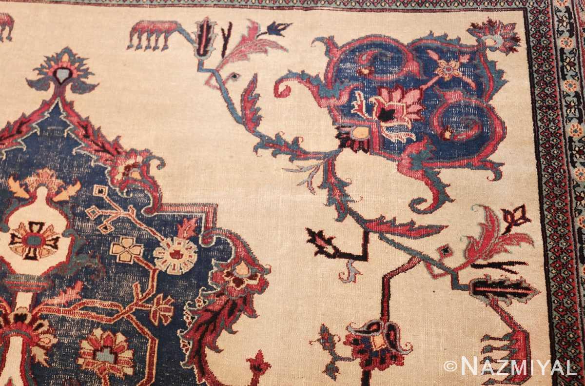antique shabby chic persian khorassan rug 48035 design Nazmiyal