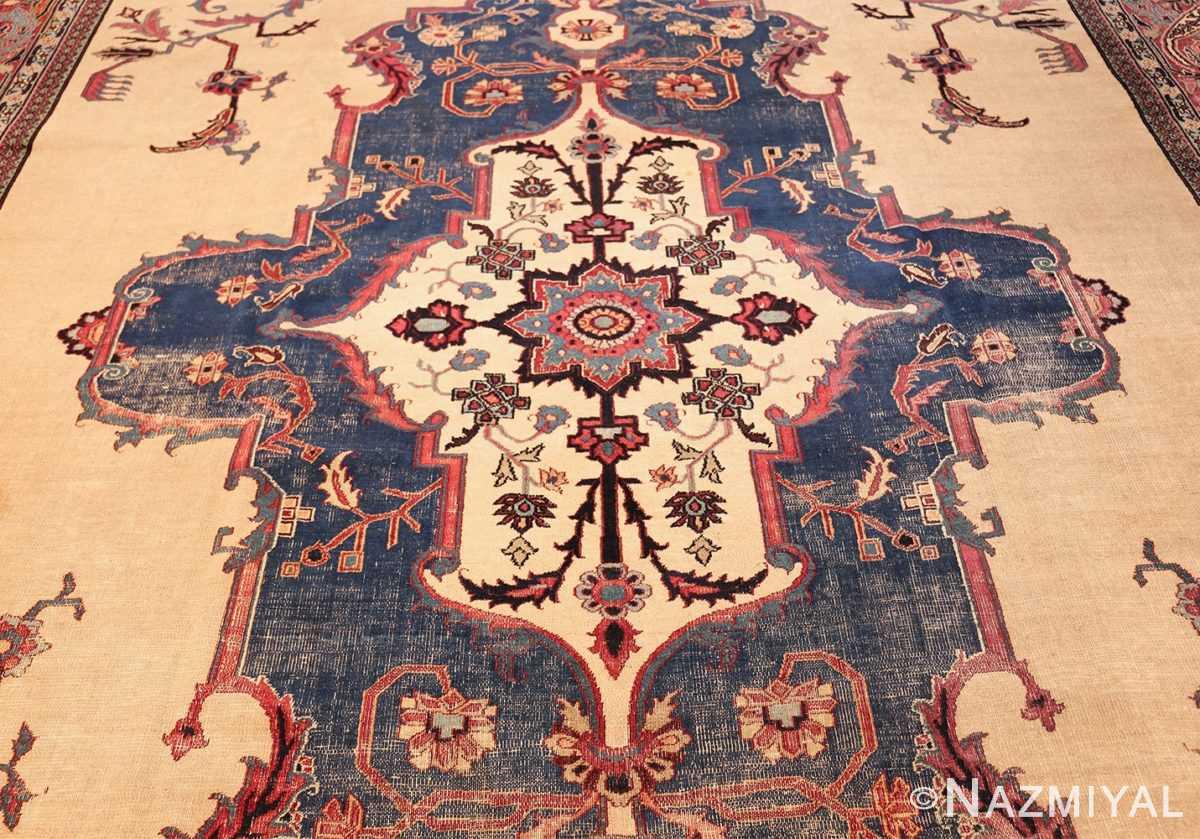 antique shabby chic persian khorassan rug 48035 field Nazmiyal