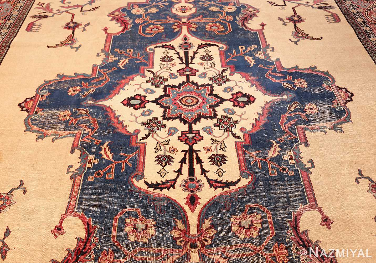 antique shabby chic persian khorassan rug 48035 field Nazmiyal