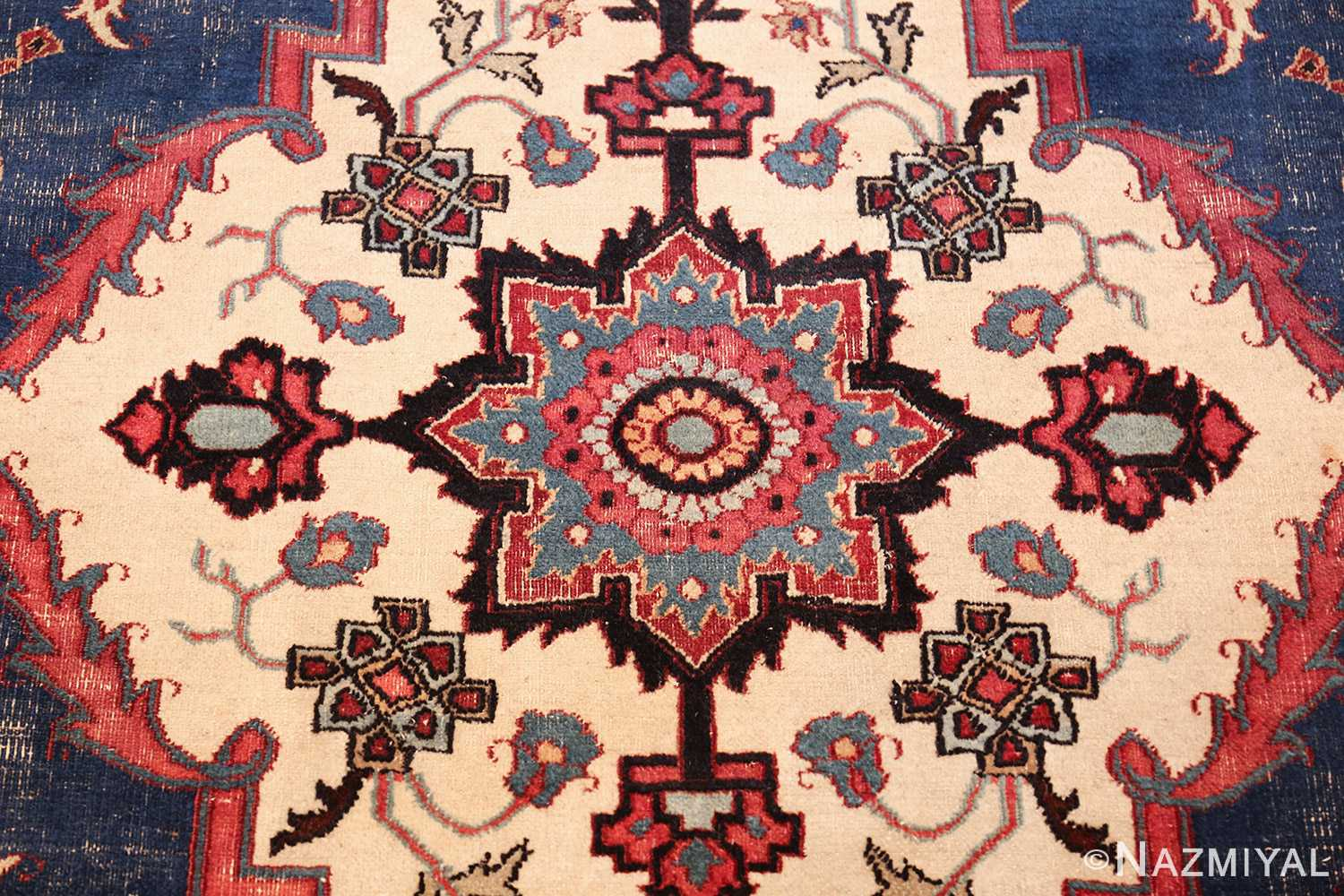 antique shabby chic persian khorassan rug 48035 middle Nazmiyal