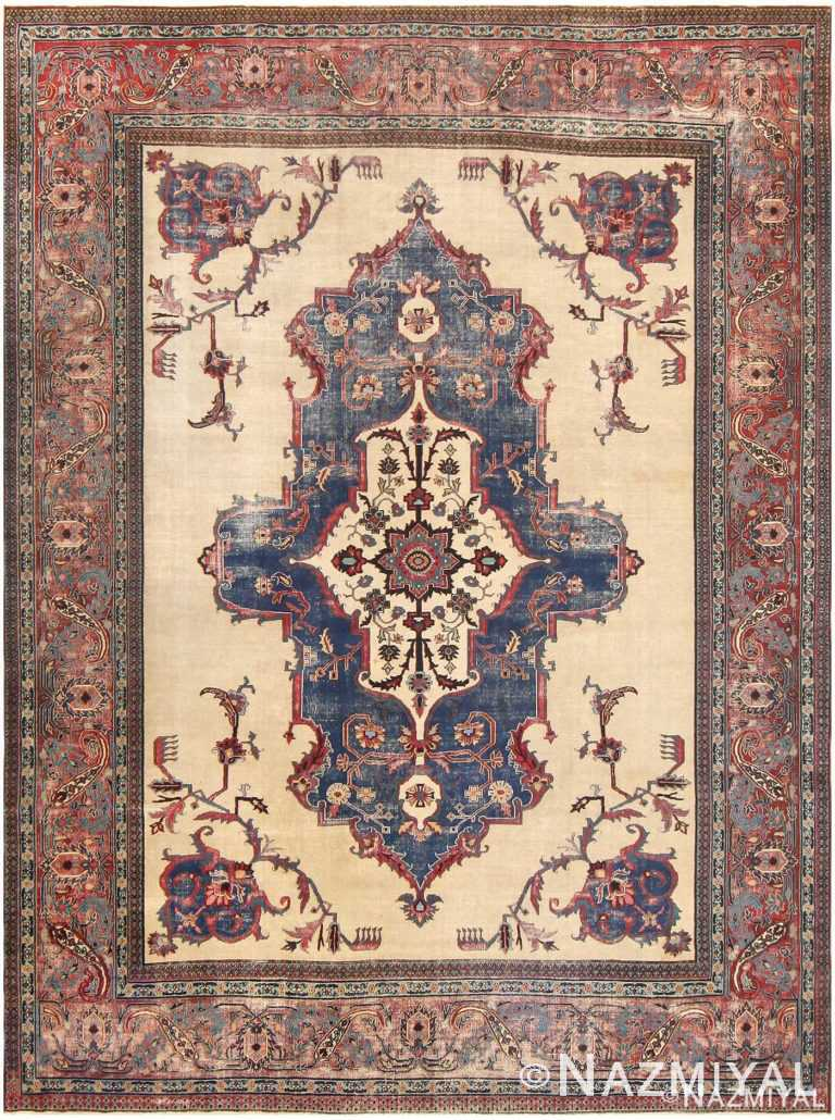 Antique Shabby Chic Persian Khorassan Rug #48035 by Nazmiyal Antique Rugs