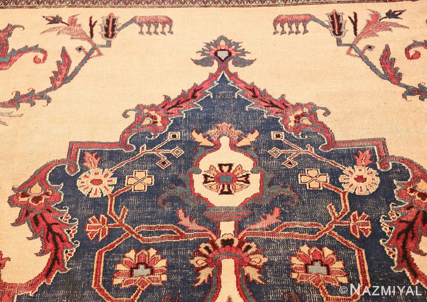 antique shabby chic persian khorassan rug 48035 tiara