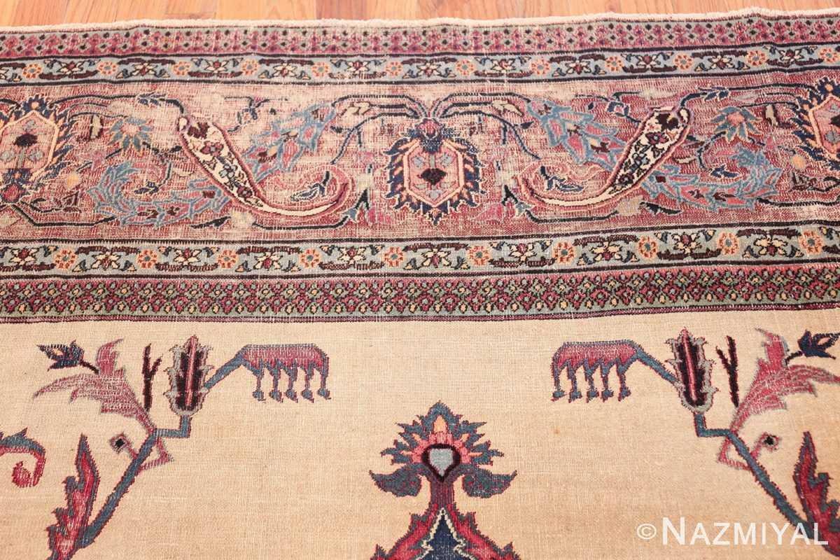antique shabby chic persian khorassan rug 48035 top Nazmiyal