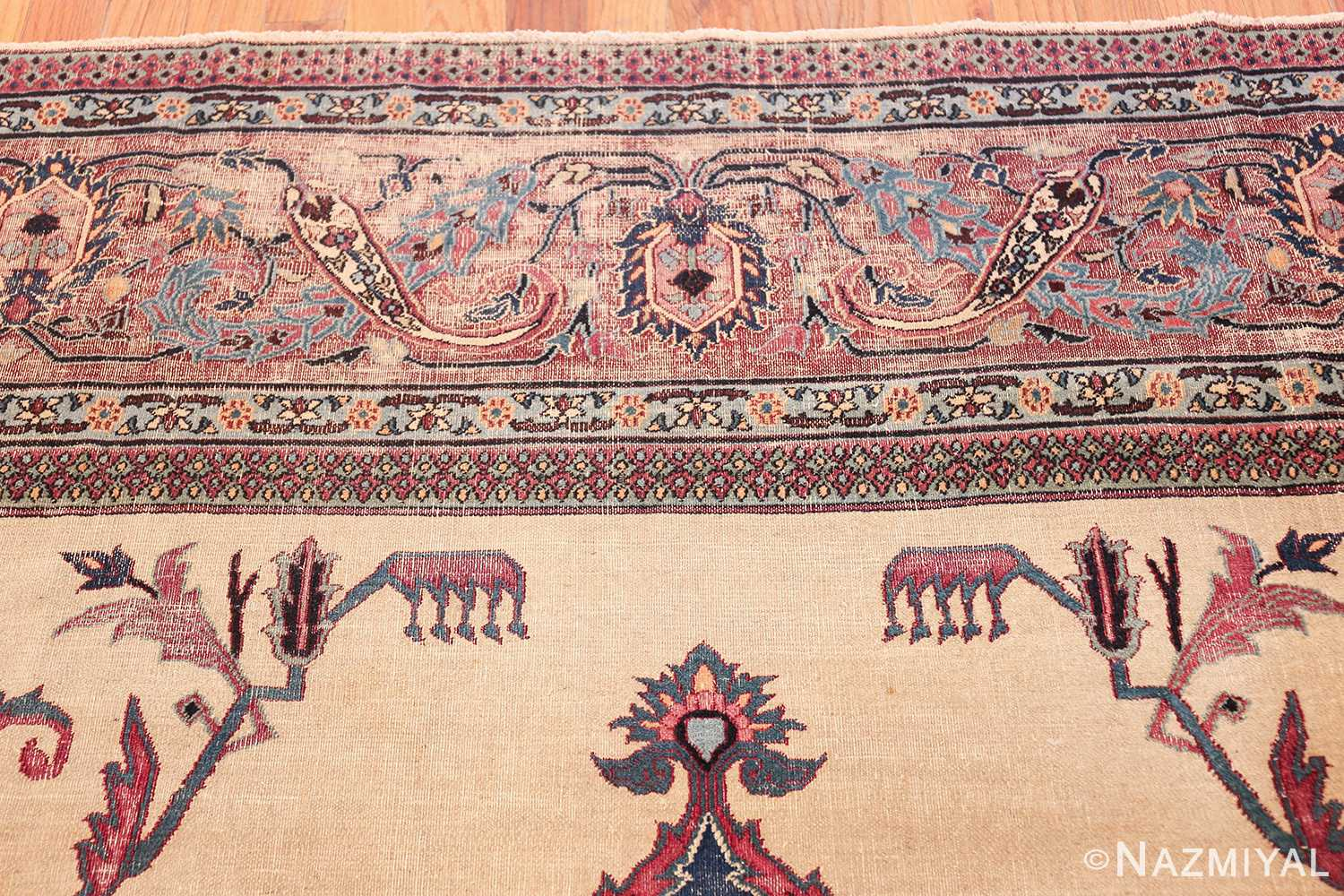 antique shabby chic persian khorassan rug 48035 top Nazmiyal