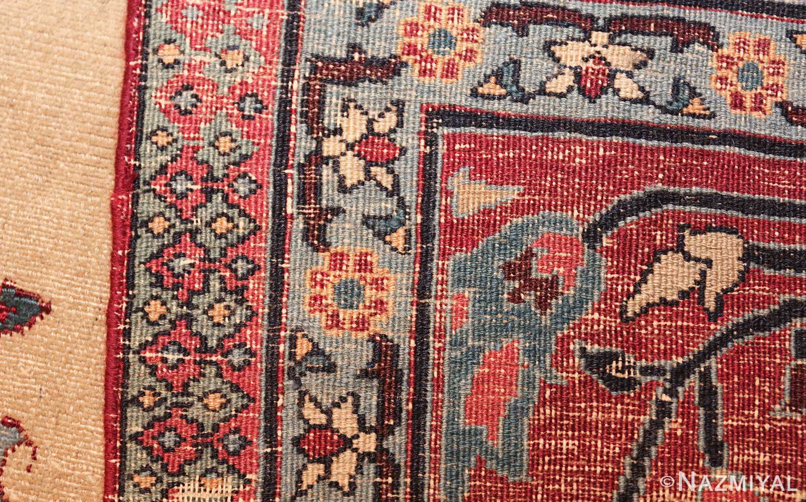antique shabby chic persian khorassan rug 48035 weave Nazmiyal