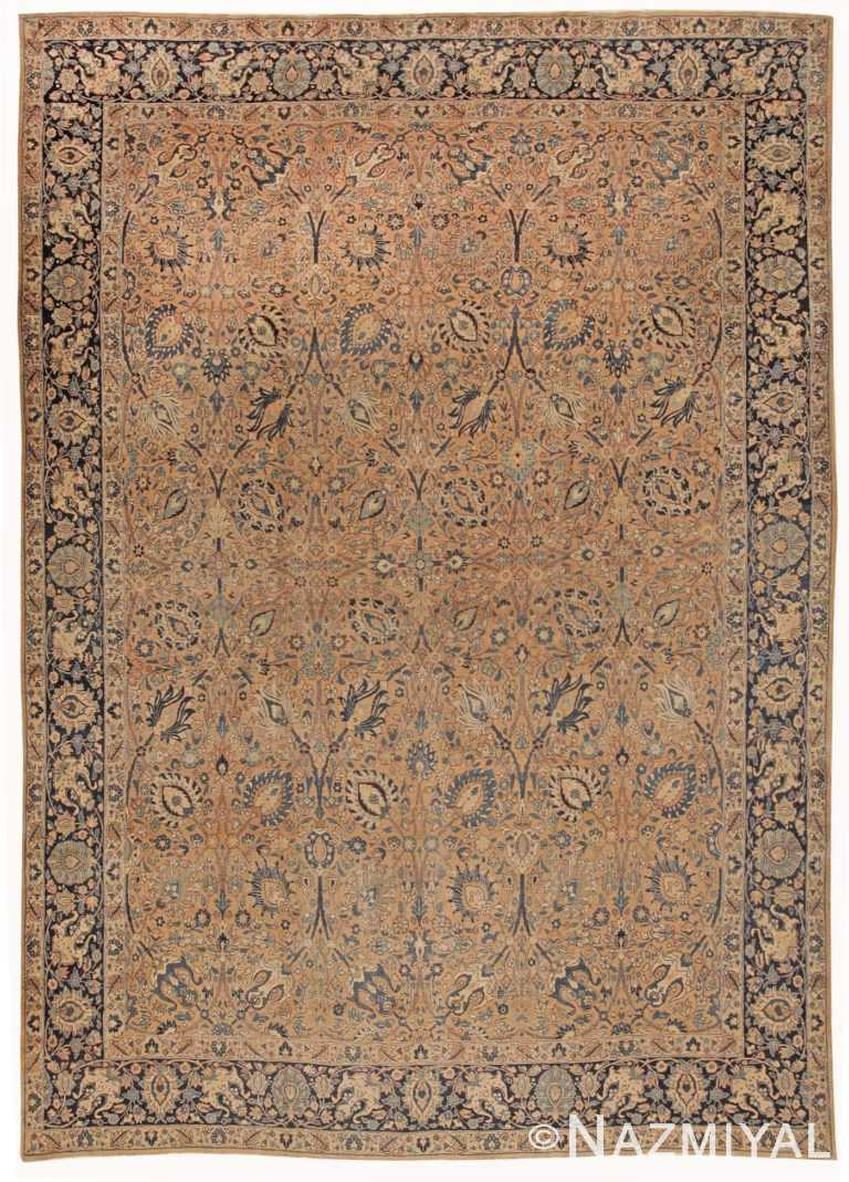 Room Size Antique Vase Design Tabriz Persian Rug 42055 by Nazmiyal Antique Rugs