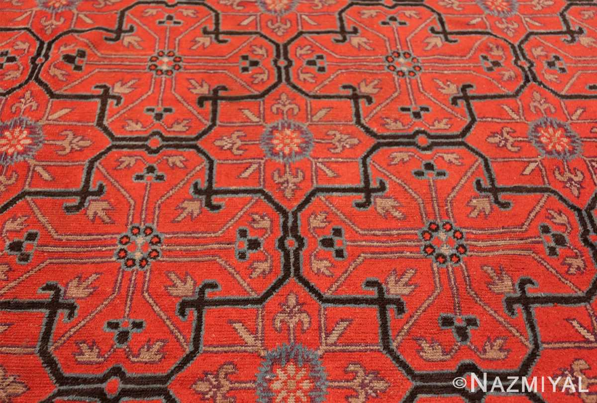 Early 18th Century Antique Chinese Geometric Rug 48032 Central Medallion Nazmiyal