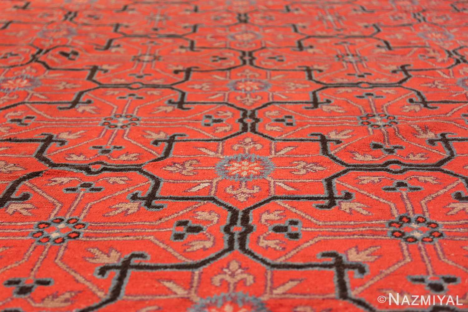 Early 18th Century Antique Chinese Geometric Rug 48032 Field Design Nazmiyal