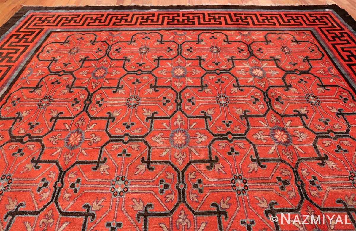 Early 18th Century Antique Chinese Geometric Rug 48032 Top Design Nazmiyal