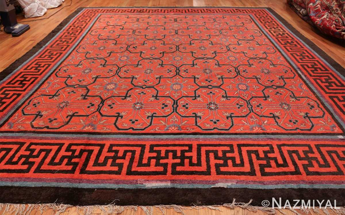 Early 18th Century Antique Chinese Geometric Rug 48032 Whole Design Nazmiyal