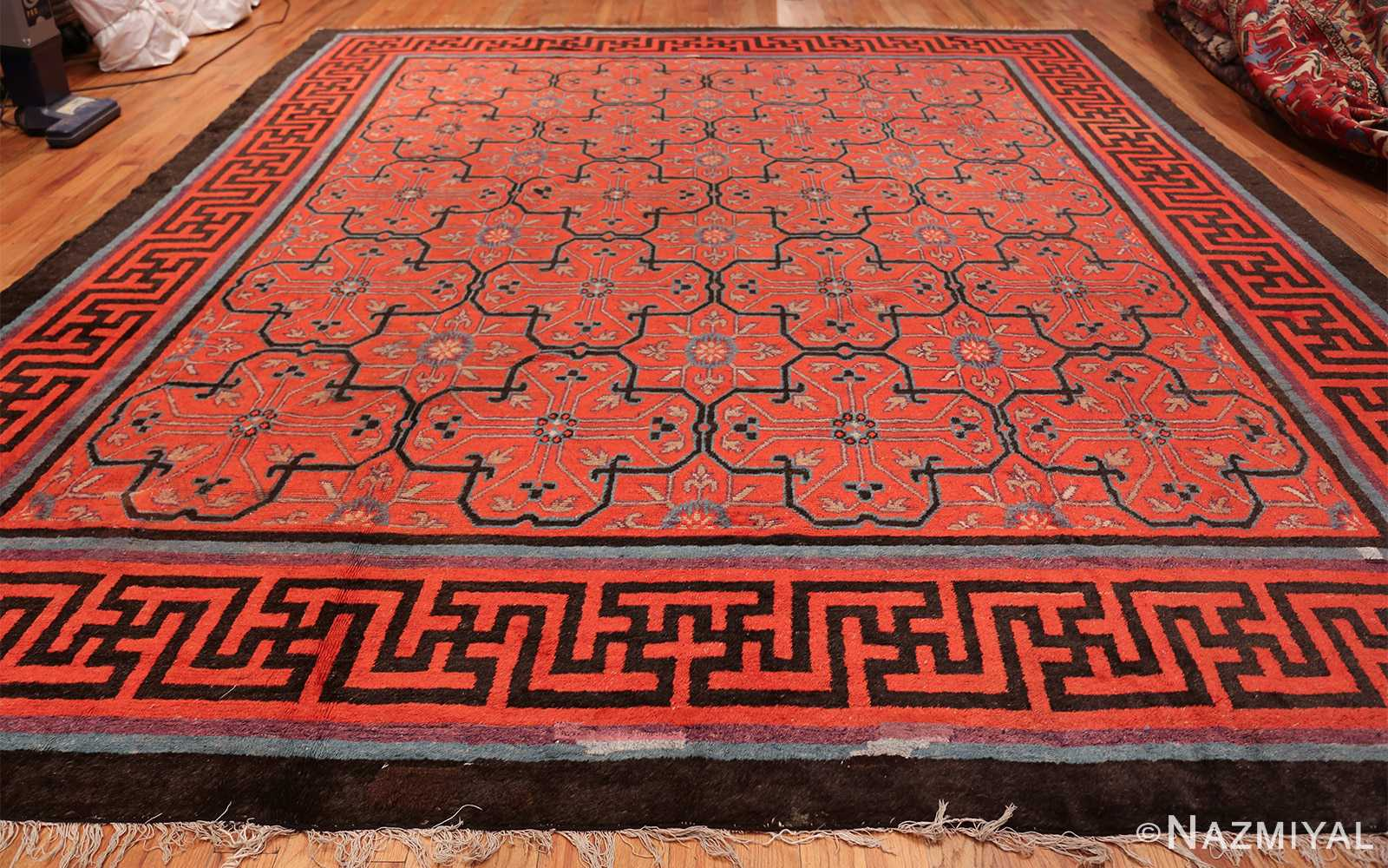 Early 18th Century Antique Chinese Geometric Rug 48032 Whole Design Nazmiyal