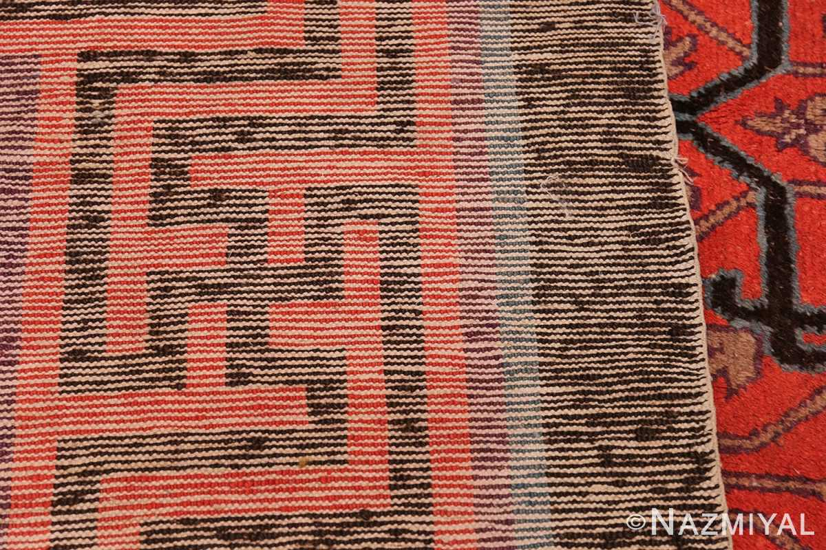 Early 18th Century Antique Chinese Geometric Rug 48032 Woven Knots Nazmiyal